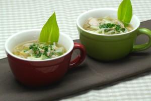 4月第1週うるいと豚肉の山椒もやしスープ