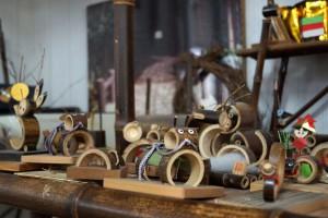 黒竹民芸品の干支の置物