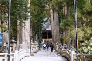 生身供を運ぶの僧侶のあとに続き、御廟に向かう参詣者