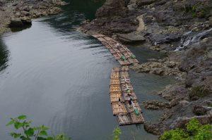 出発地点の筏