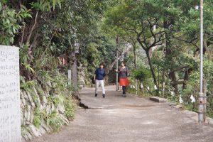 伊勢部柿本神社の山へ