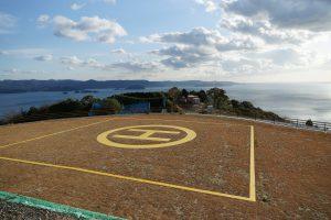 有田みかん海道に完成したヘリポート