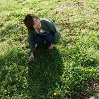 四つ葉のクローバー発見