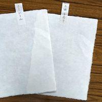 女子2人の手漉き和紙、完成