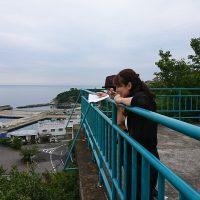 高津子山の中腹に絶景スポットが