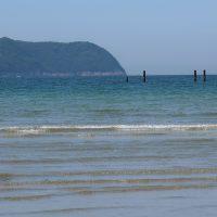 透き通る水、西広海岸