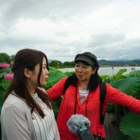 平池緑地公園に女子2人