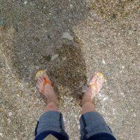 足がきれい、水がきれい